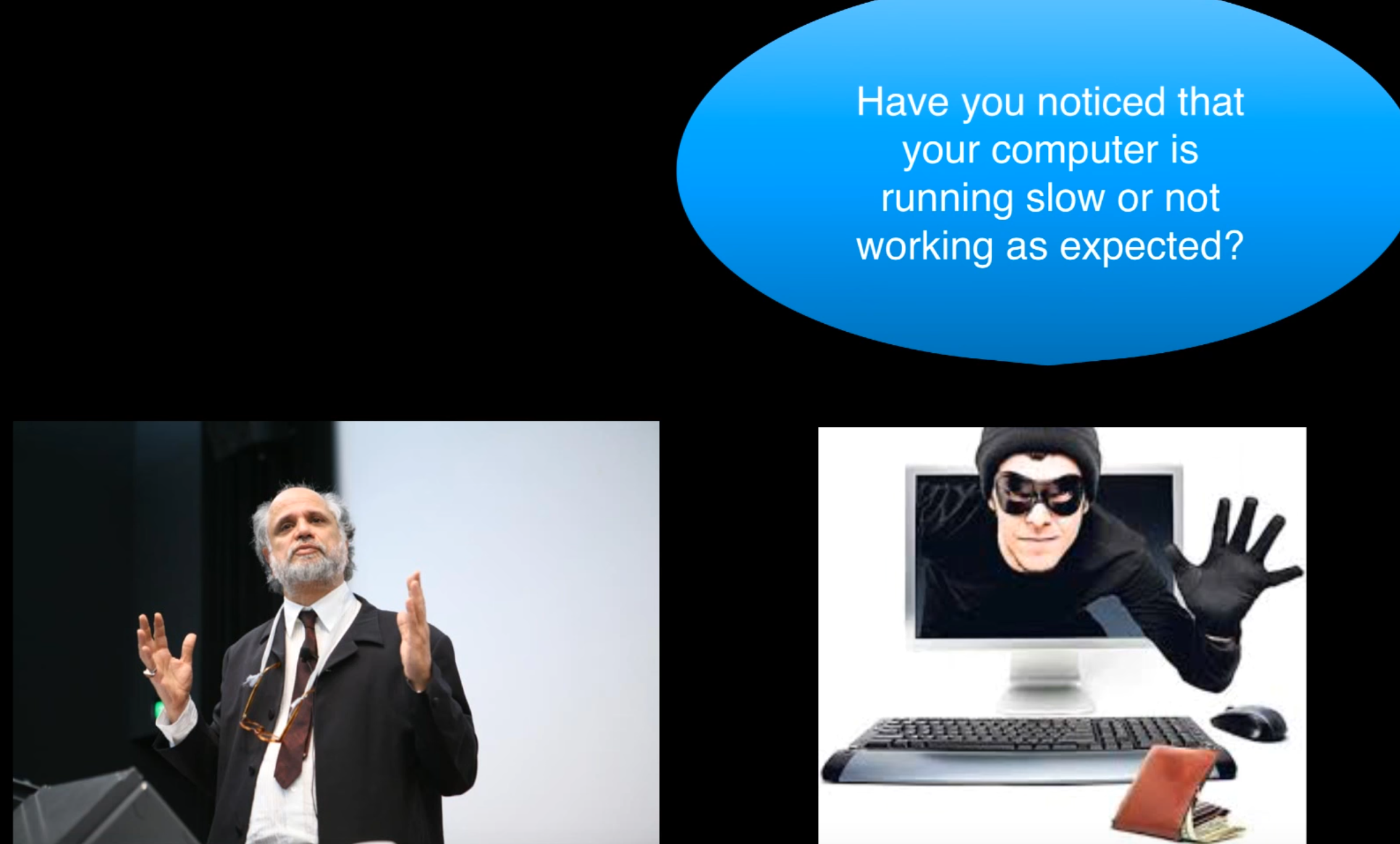 If you're a scammer … don't call a Security Prof (on a