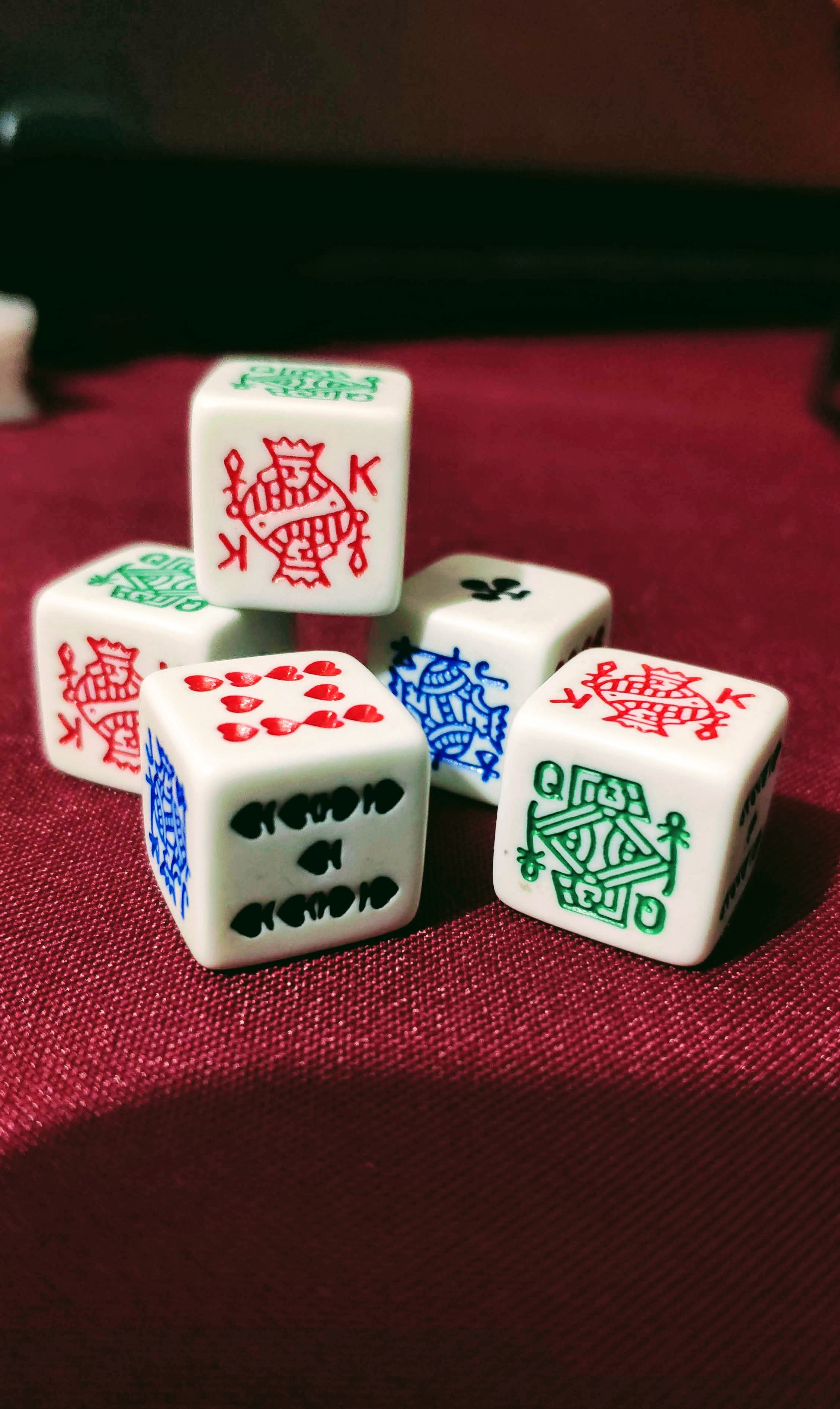 Stack of Dice for poker game