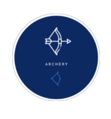 Image of a bow and arrow to symbolize archery