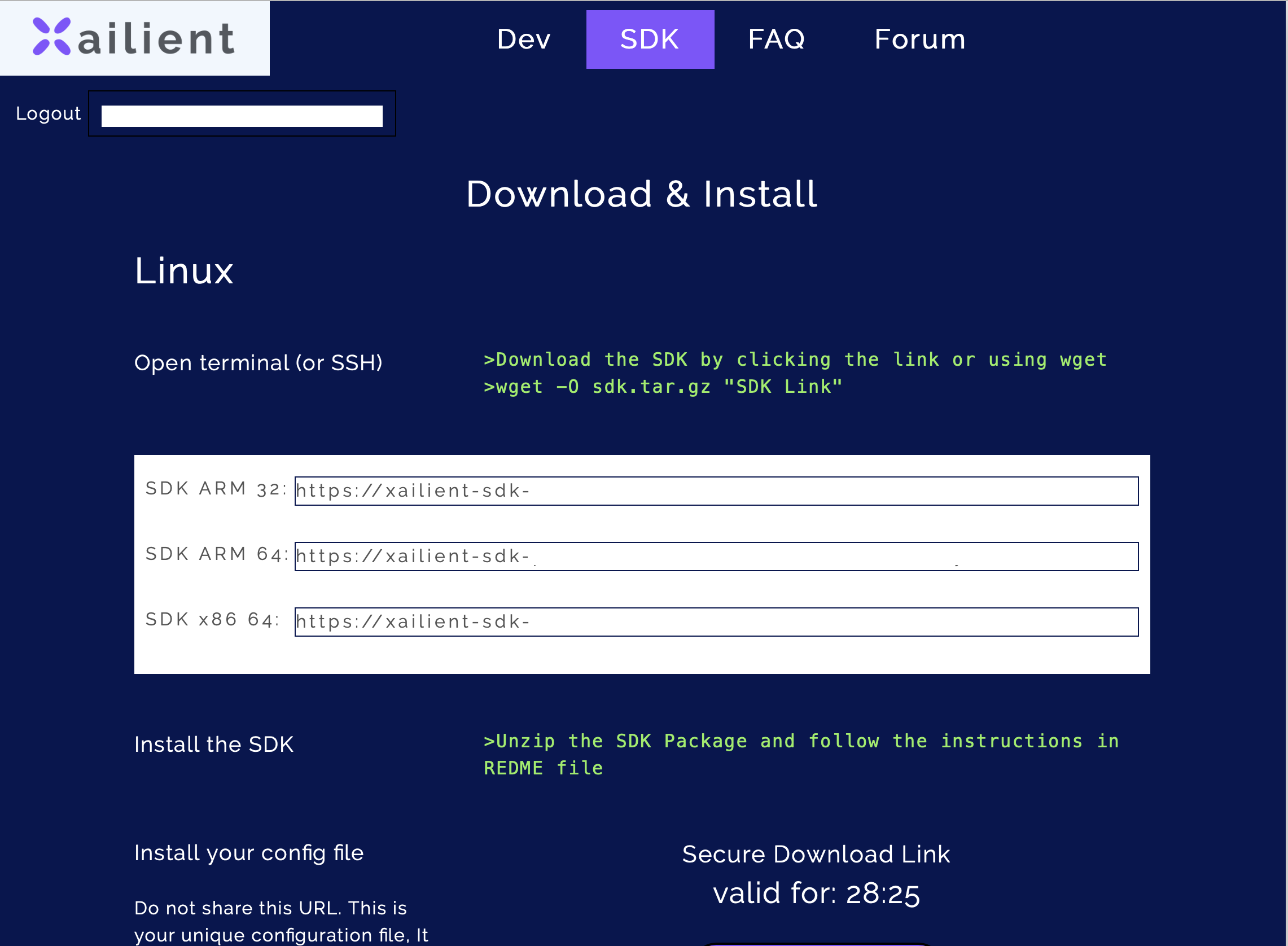 Xailient SDK page to download Python Face SDK.