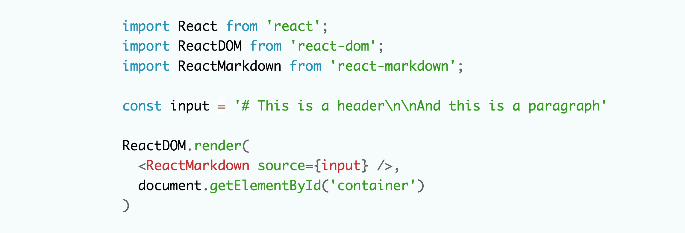 React Markdown — Code and Syntax Highlighting - Young
