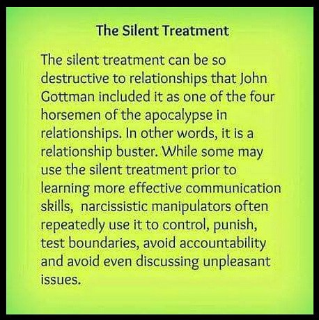 Image result for silent treatment