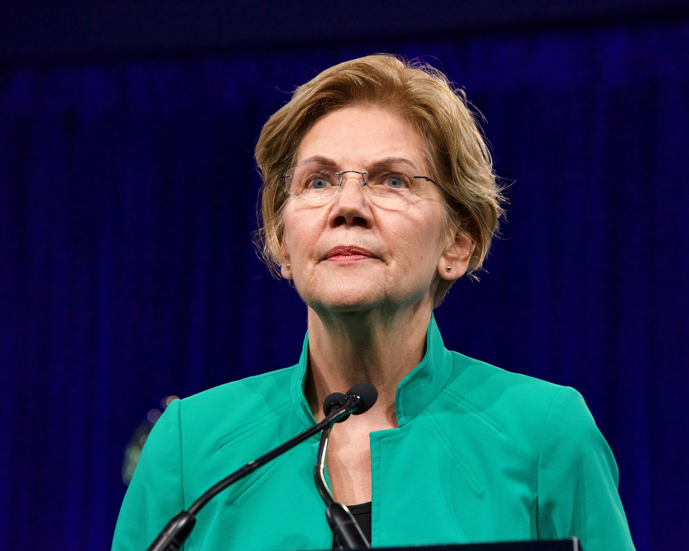 August 23, 2019: Presidential candidate Elizabeth Warren speaking at the Democratic National Convention in San Francisco