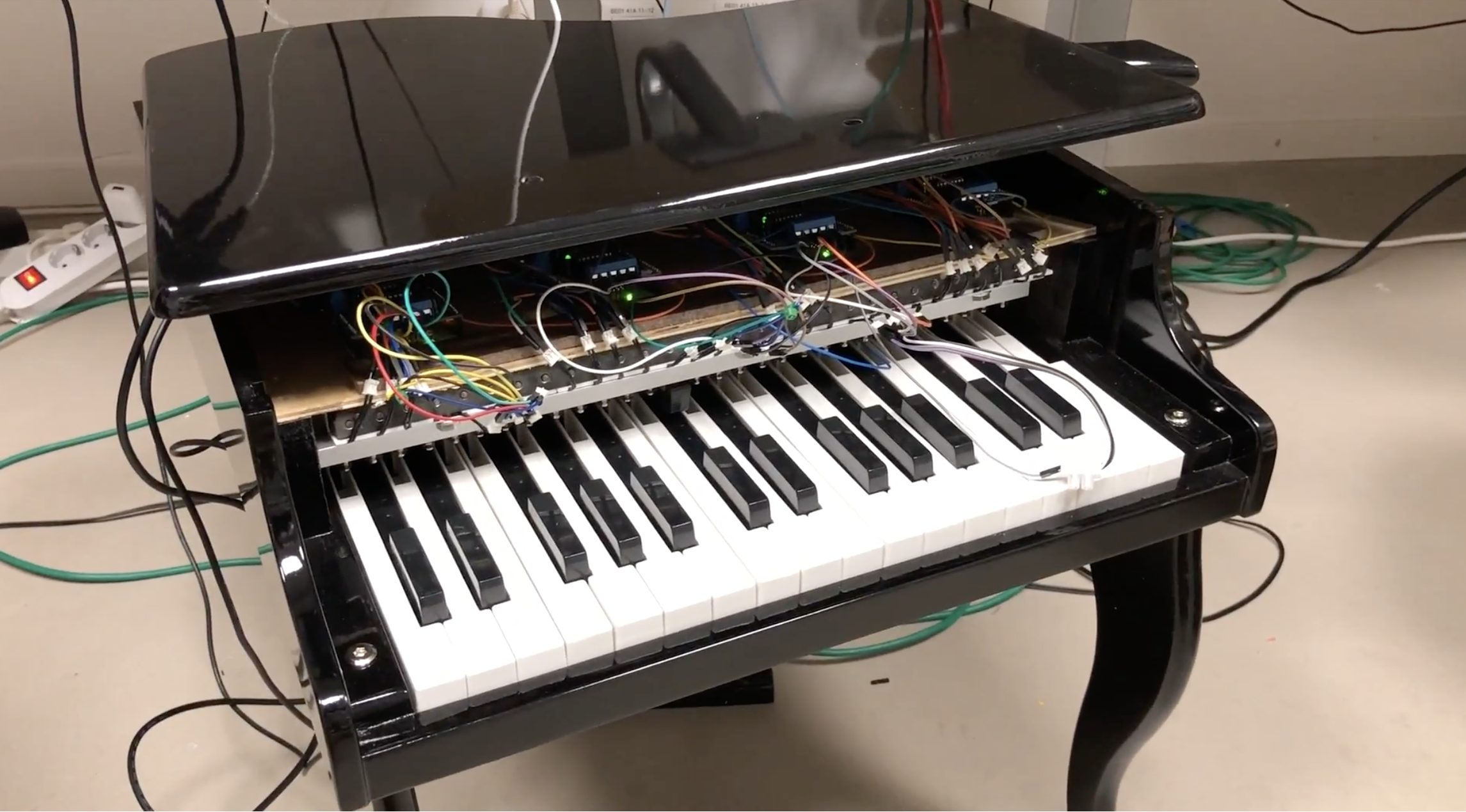 This MIDI-Controlled Toy Piano Plays Itself - Hackster Blog