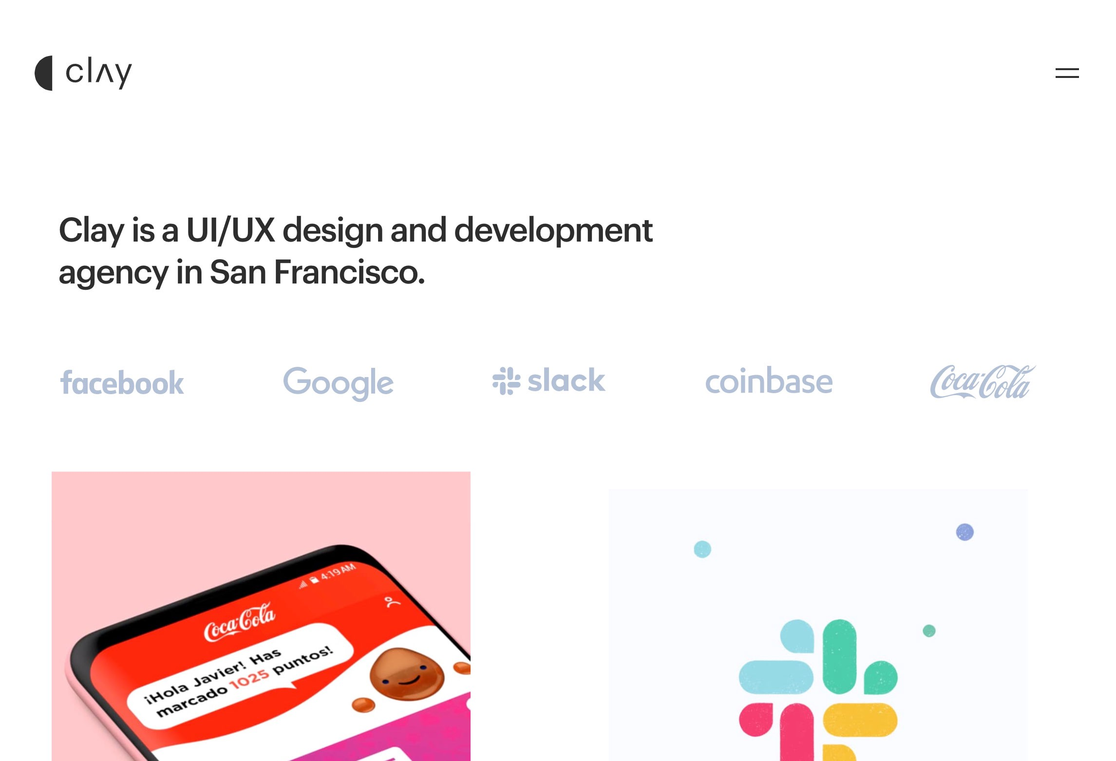 Clay — UX design agency in San Francisco