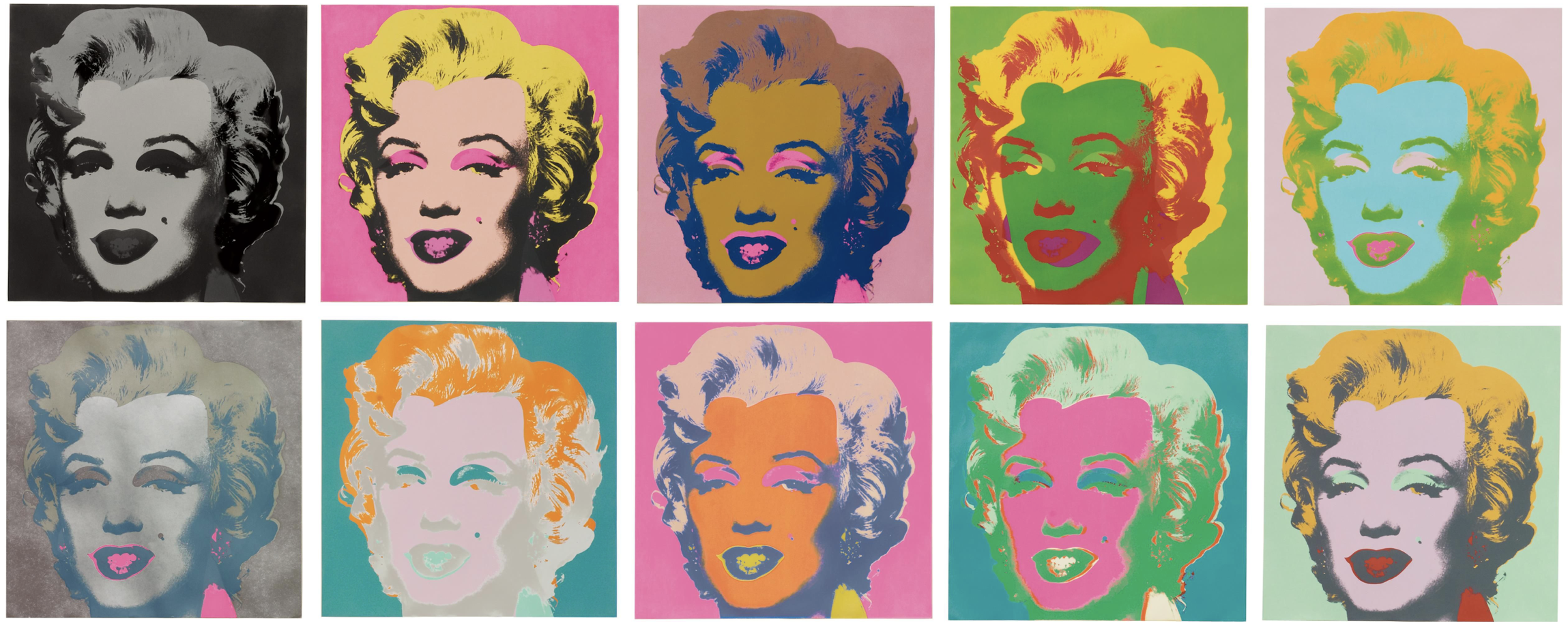 Andy Warhol's screenprints of Marilyn Monroe, Museum of Modern Art New York