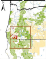 Map with red dots showing records of Bombus franklini in Oregon and California, relative to BLM and USFS land. BLM District boundaries are shown in black and Resource Area boundaries are shown in grey. A red star marks Mount Ashland, the last site where this species was seen (in 2003 and 2006). Credit: The Xerces Society for Invertebrate Conservation