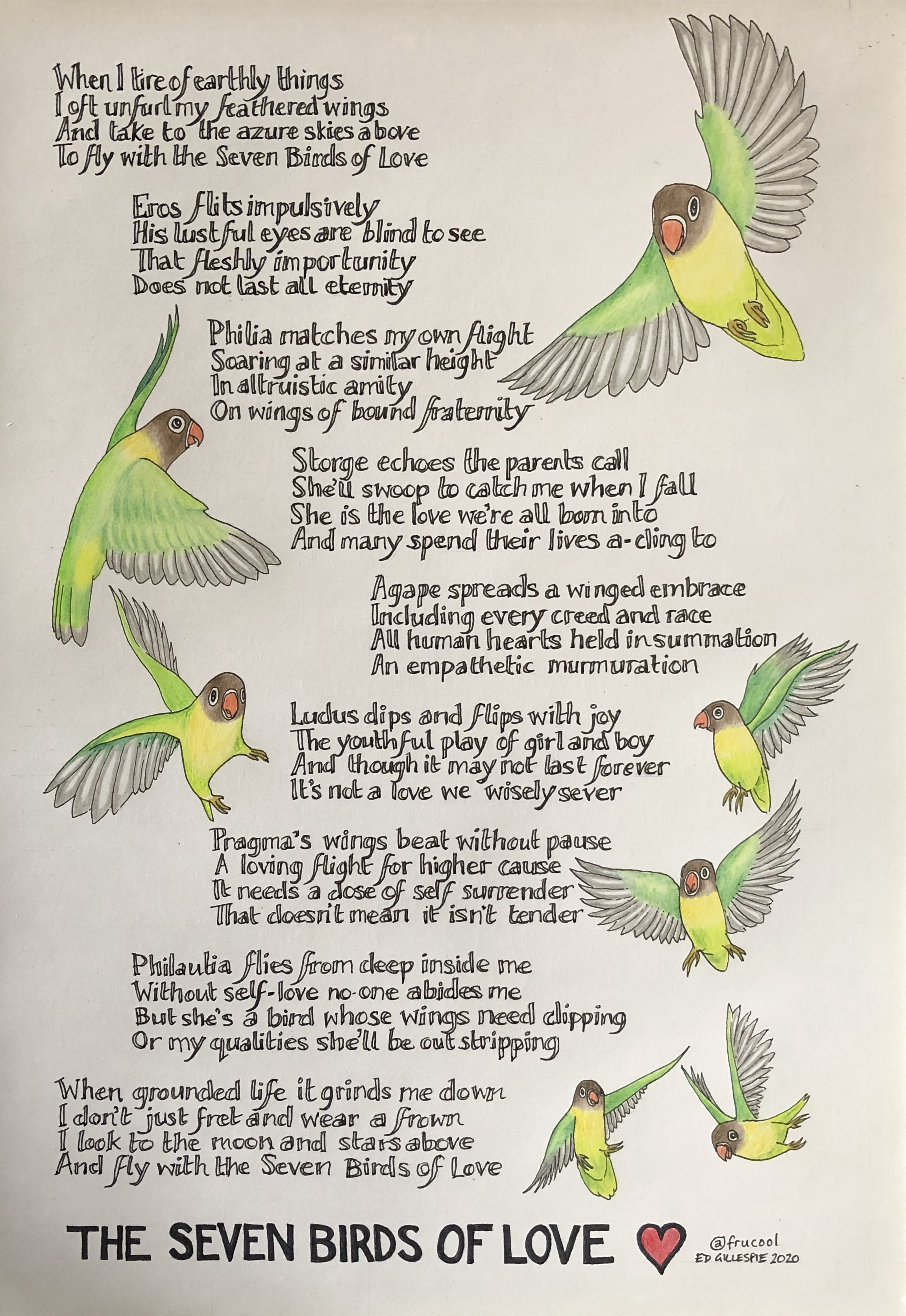 The Seven Birds Of Love This Poem Is Inspired By Seven Of The By Ed Gillespie Medium