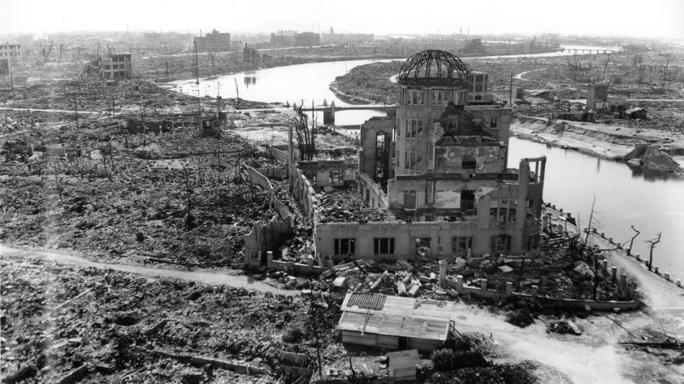 Photo of the Hiroshima bombing aftermath