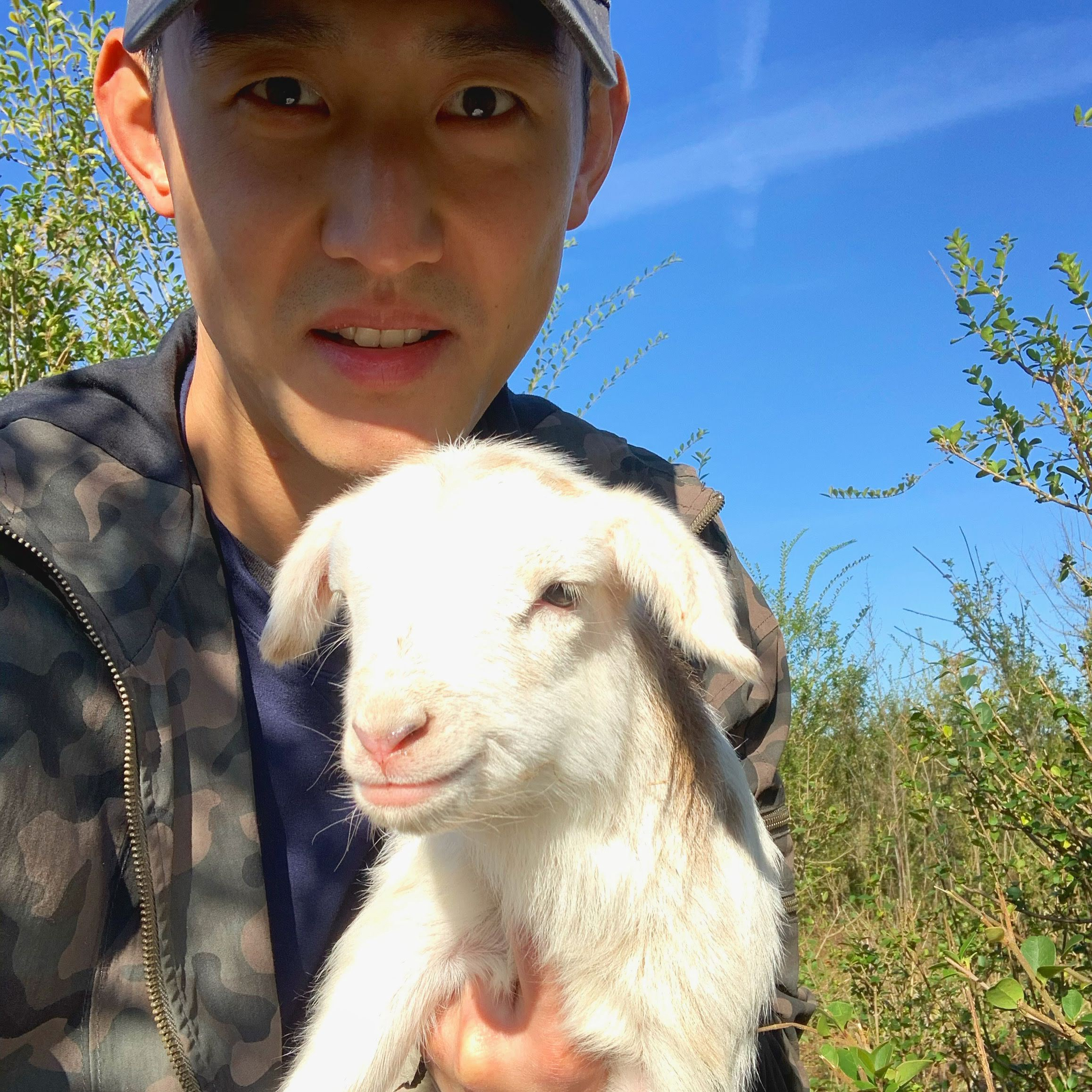 The photo of me holding a lamb that spurred a thoughtful question on Instagram.
