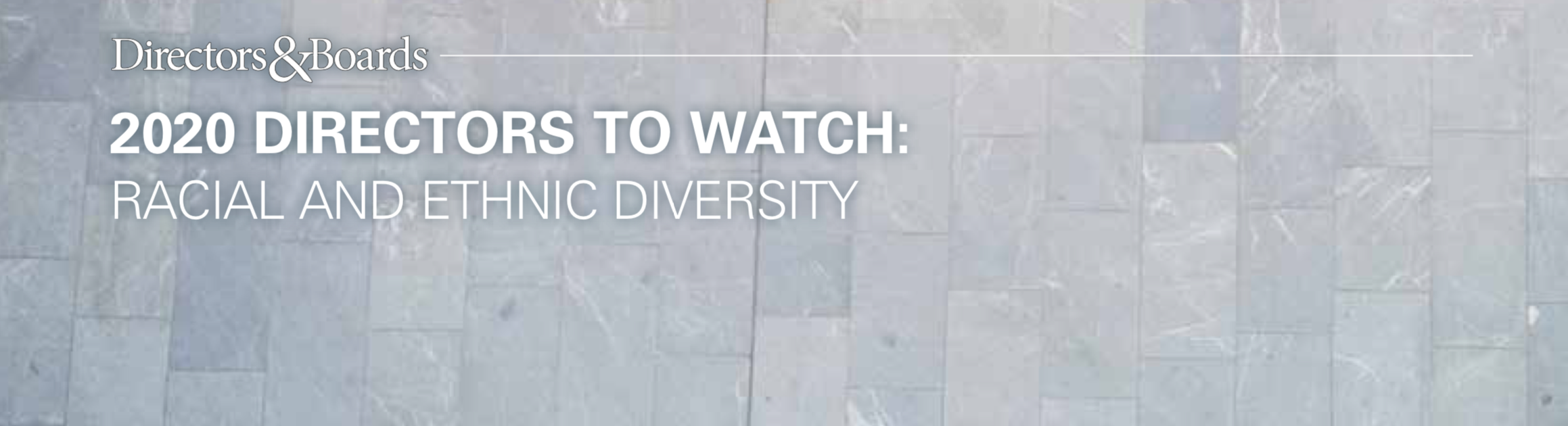 Directors&Boards 2020 Directors to Watch: Racial and Ethnic Diversity