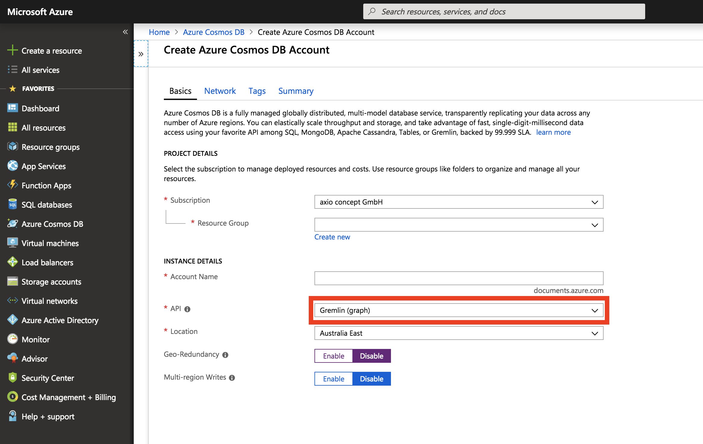 Processing highly connected Data using Azure Cosmos DB and