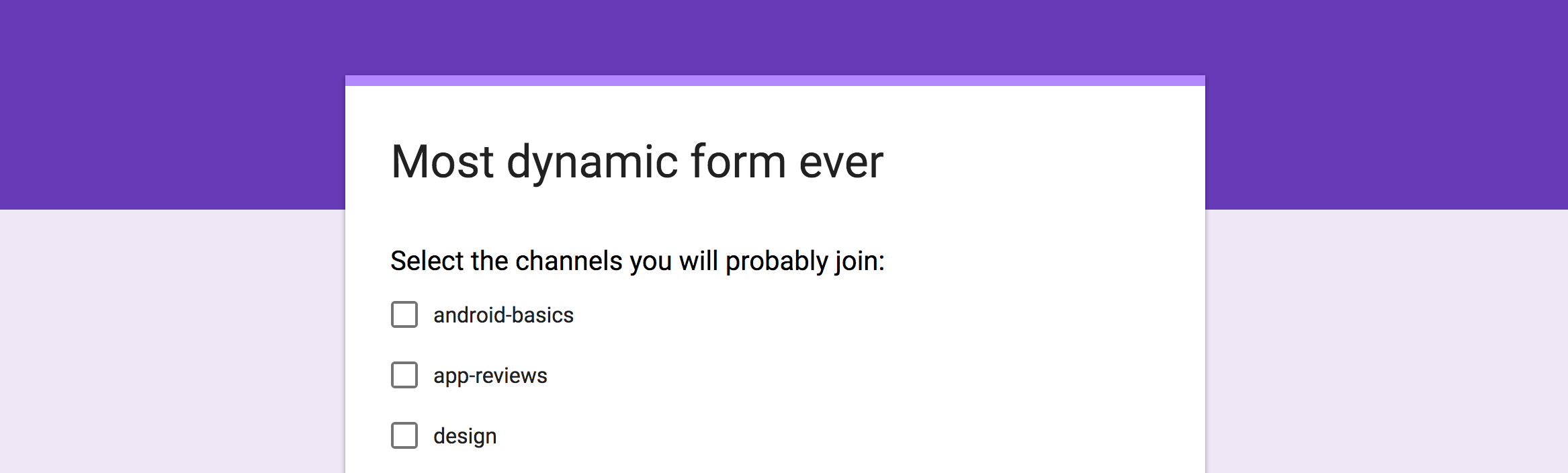 Google Forms: Dynamic answers in Questions - Pavlos-Petros