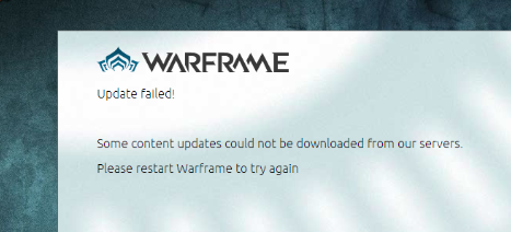 Solved] Warframe Launcher Update Failed! Error Due to