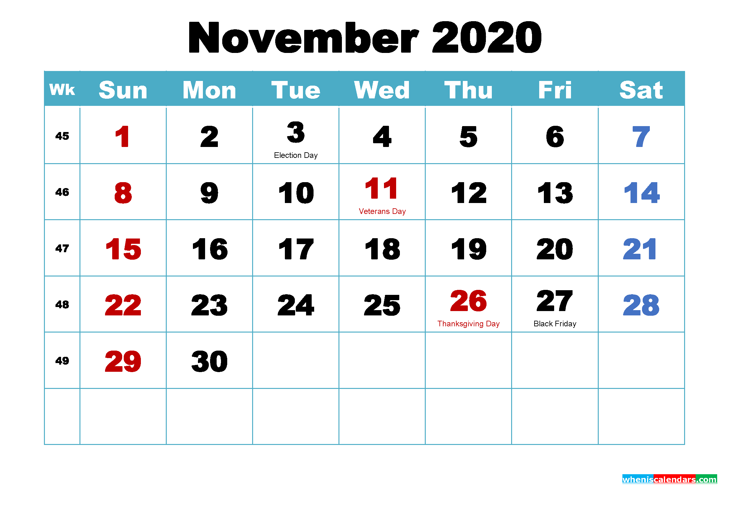 Make 2020 Your Best With Printable Monthly Calendar By Alexander Lords Medium
