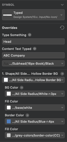 Designing the Adobe XD Component Overrides and some more…