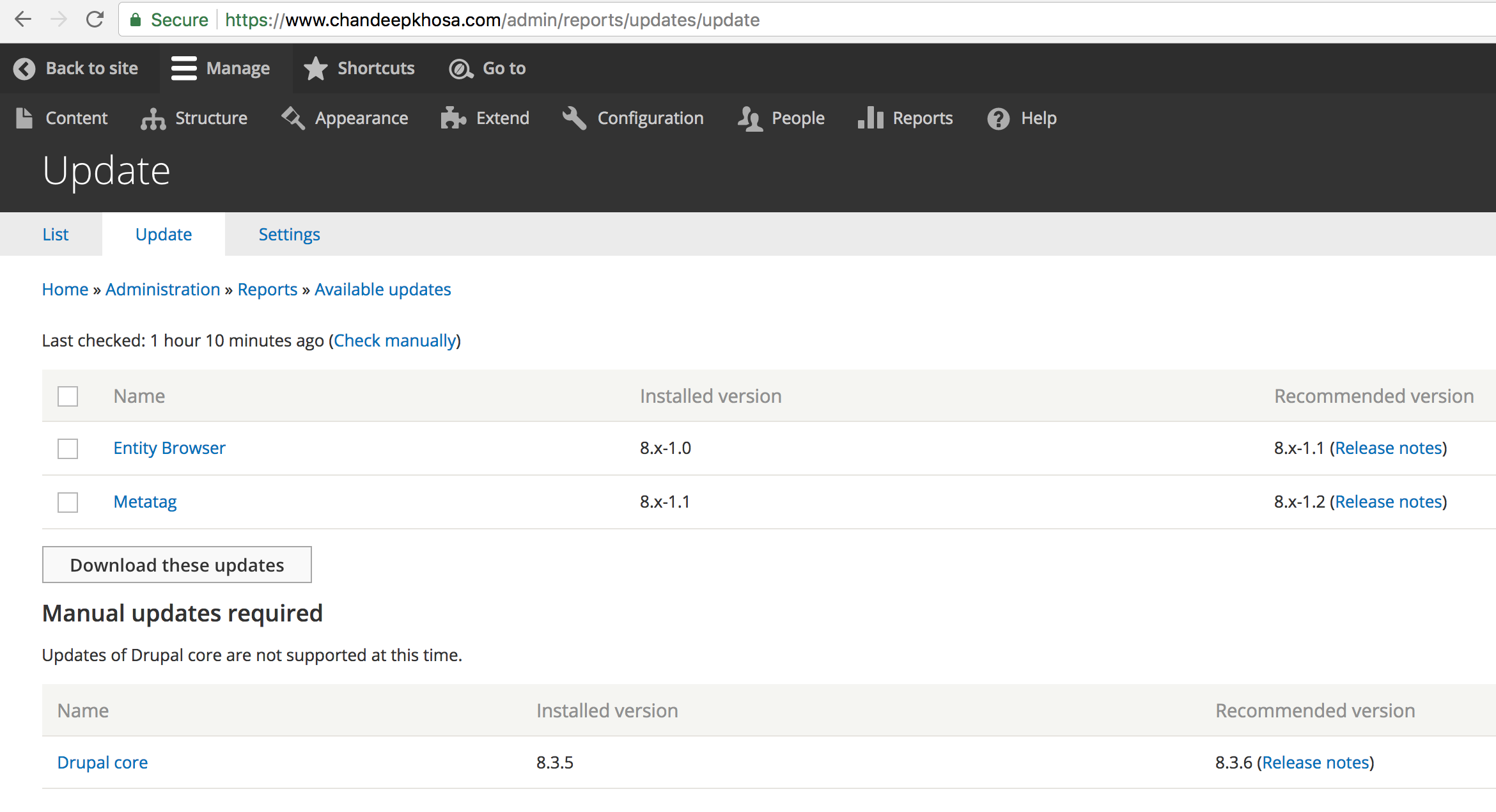 Updating Drupal 8 with Composer : a step by step tutorial