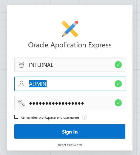 Installing APEX 5 on an 11g OCI DB Systems running in Oracle