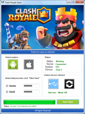 clash royale hack and cheats-free gems & gold generator