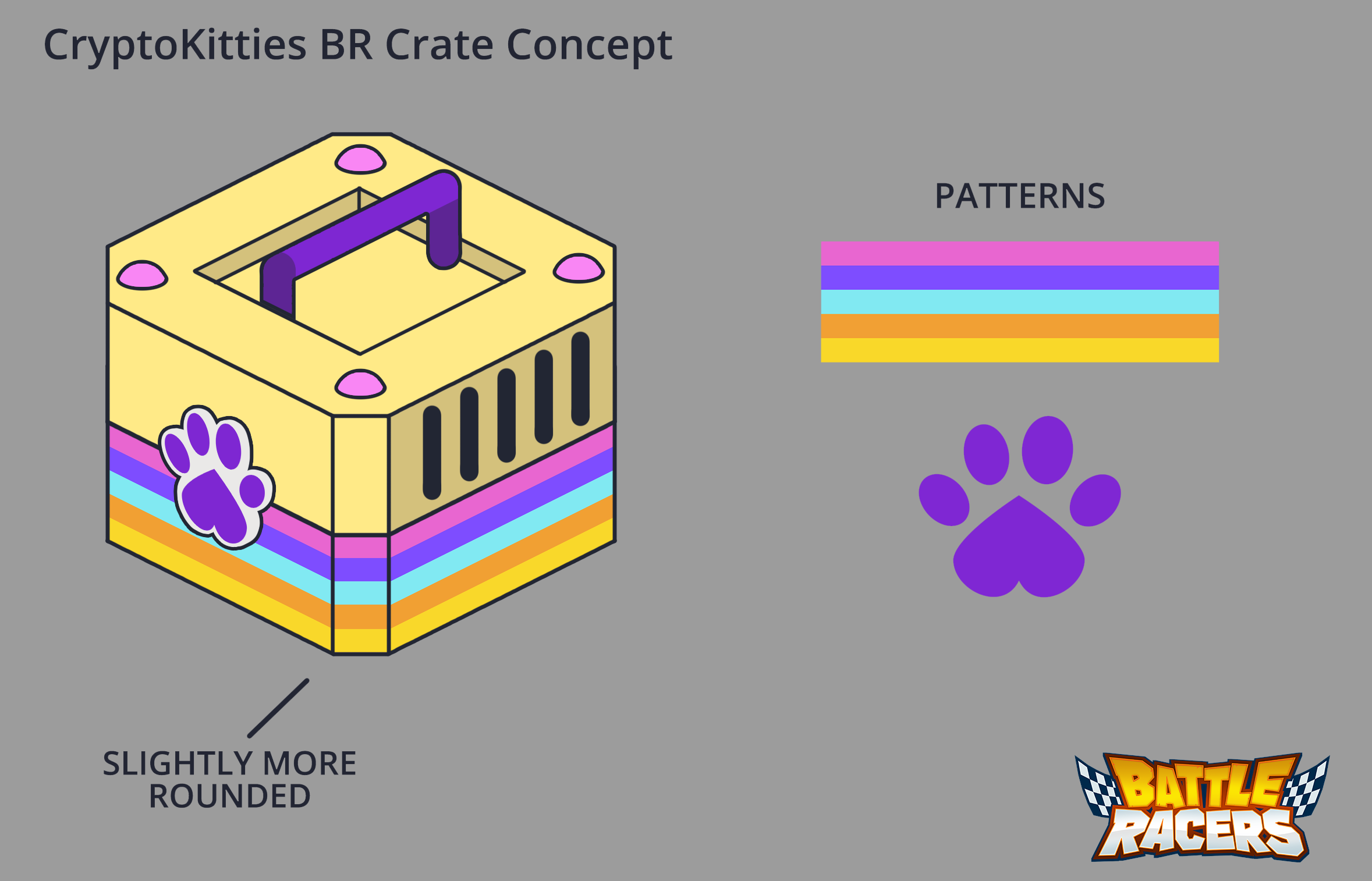 Concept art for CryptoKitties crate