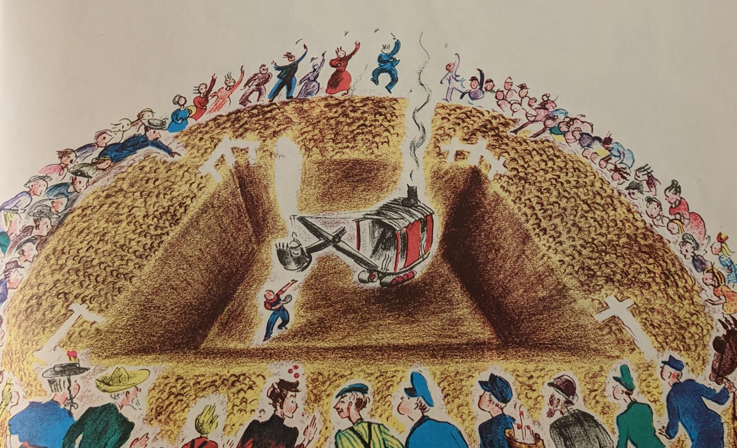 Mike Mulligan and Steam Shovel dig the basement in just one day