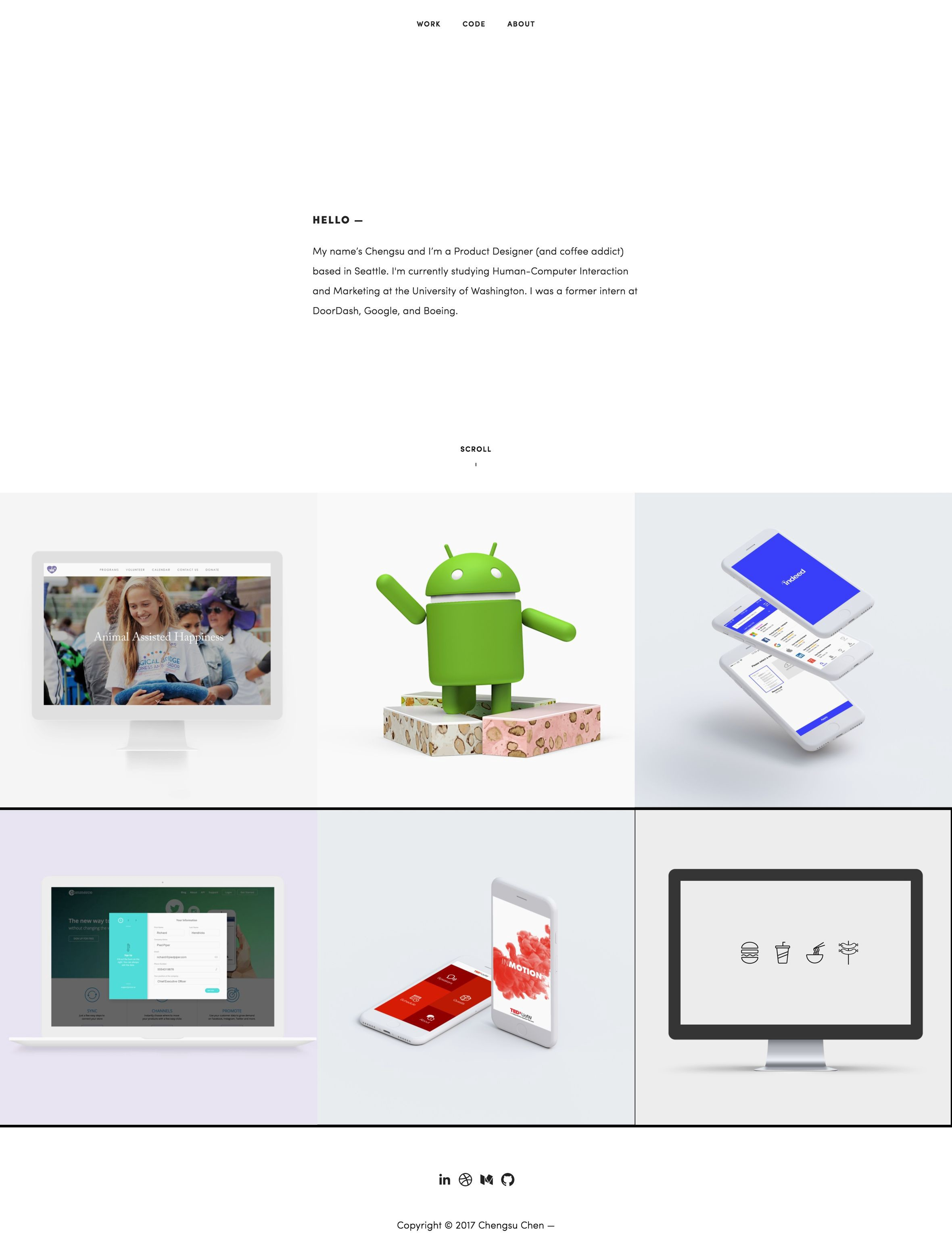 5 Great Design Portfolios From Students Who Are Hired By Google And Facebook By Bestfolios Com Medium
