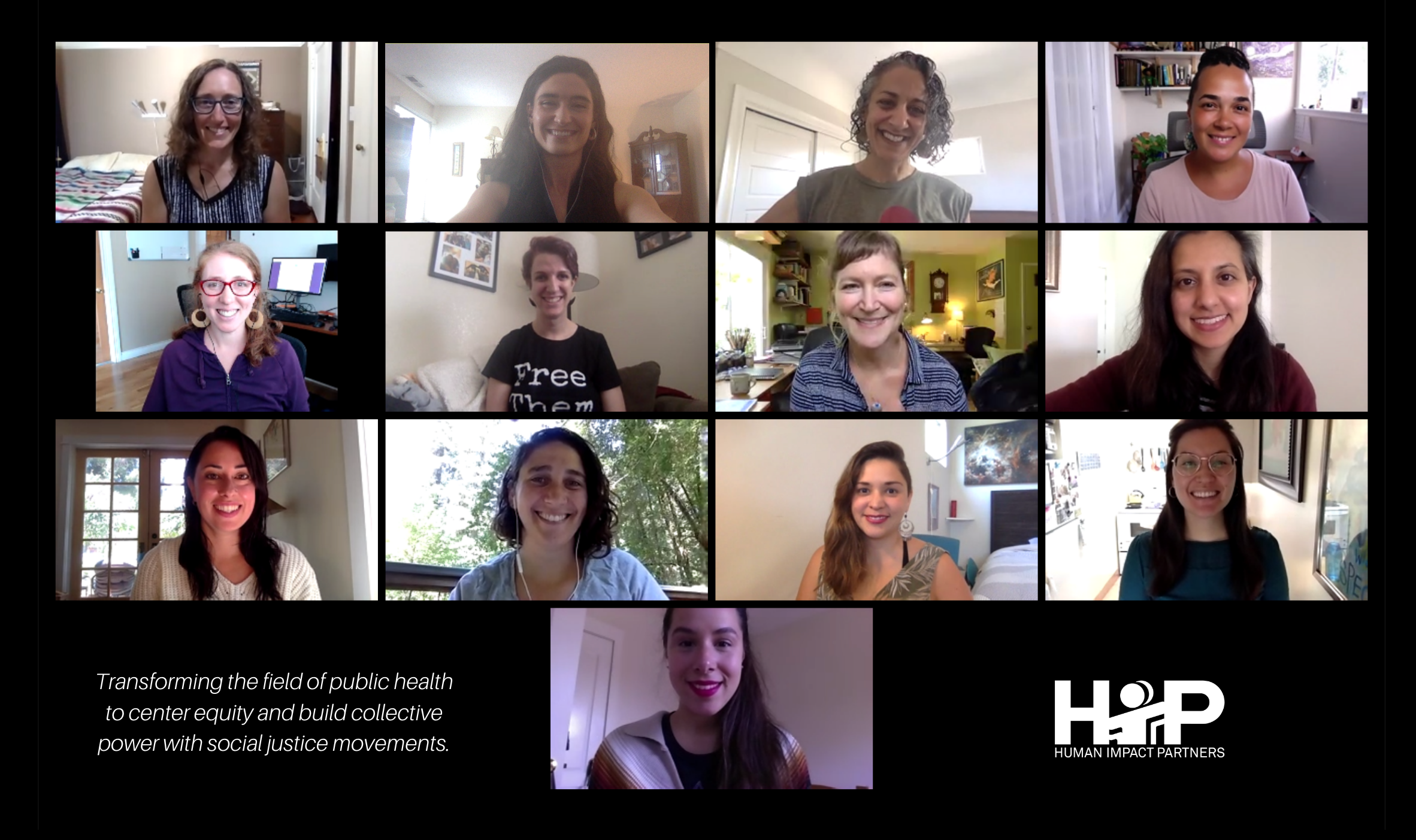Photo of the HIP staff together on zoom call