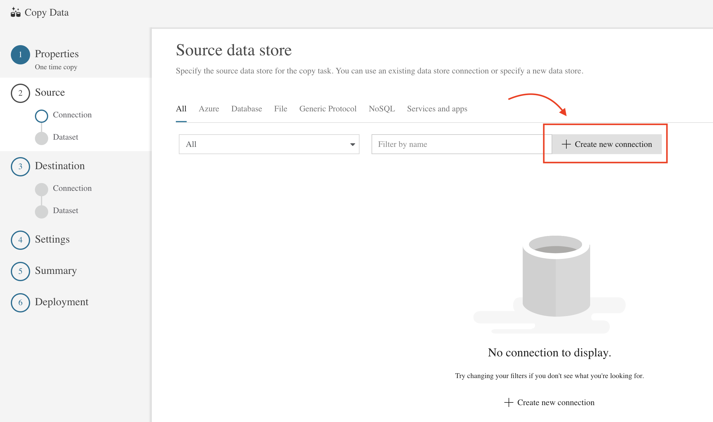 Using Azure Data Lake to copy data from CSV file to a SQL