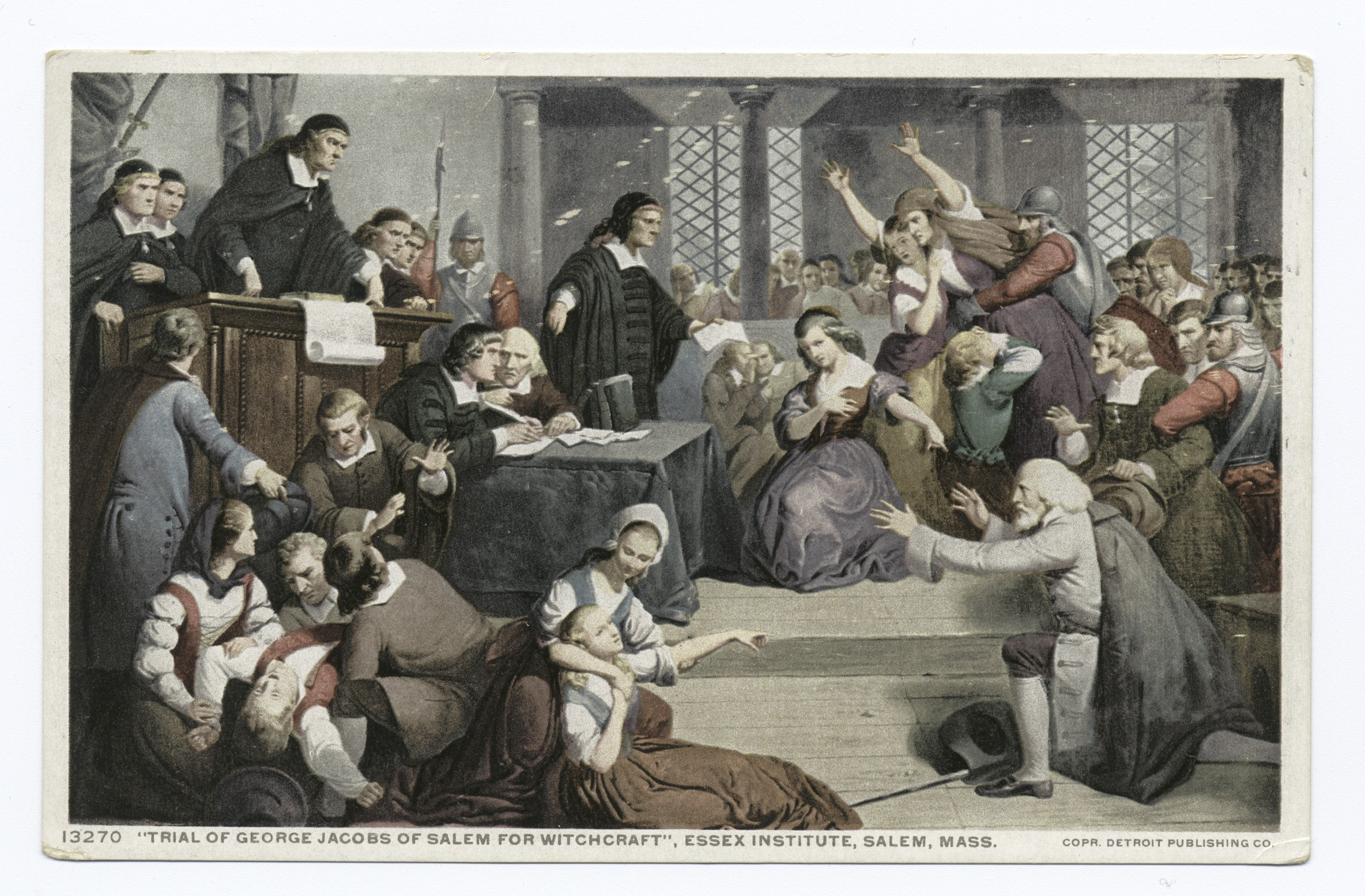 Salem witch trials: Pandemonium in the courtroom as people point and faint