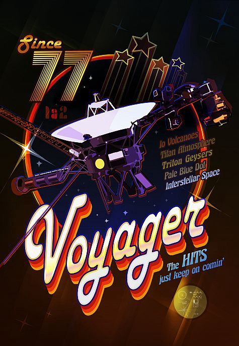 In the battle of icons of the S0 decade, Voyager has come of age better than disco.  Image via NASA / JPL