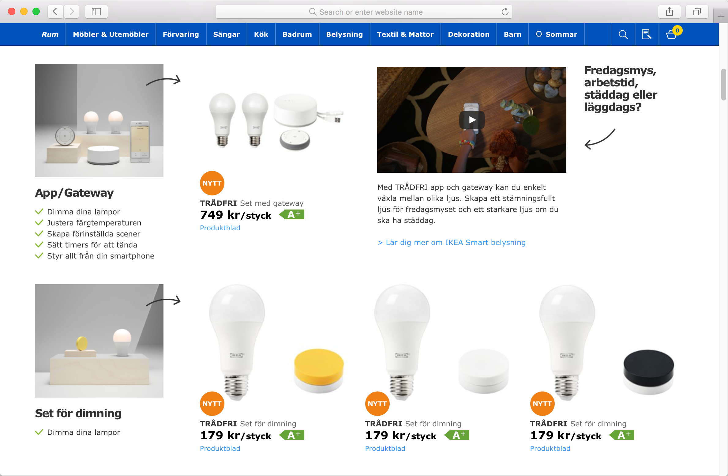 Ikea is to sell smart lightbulbs that