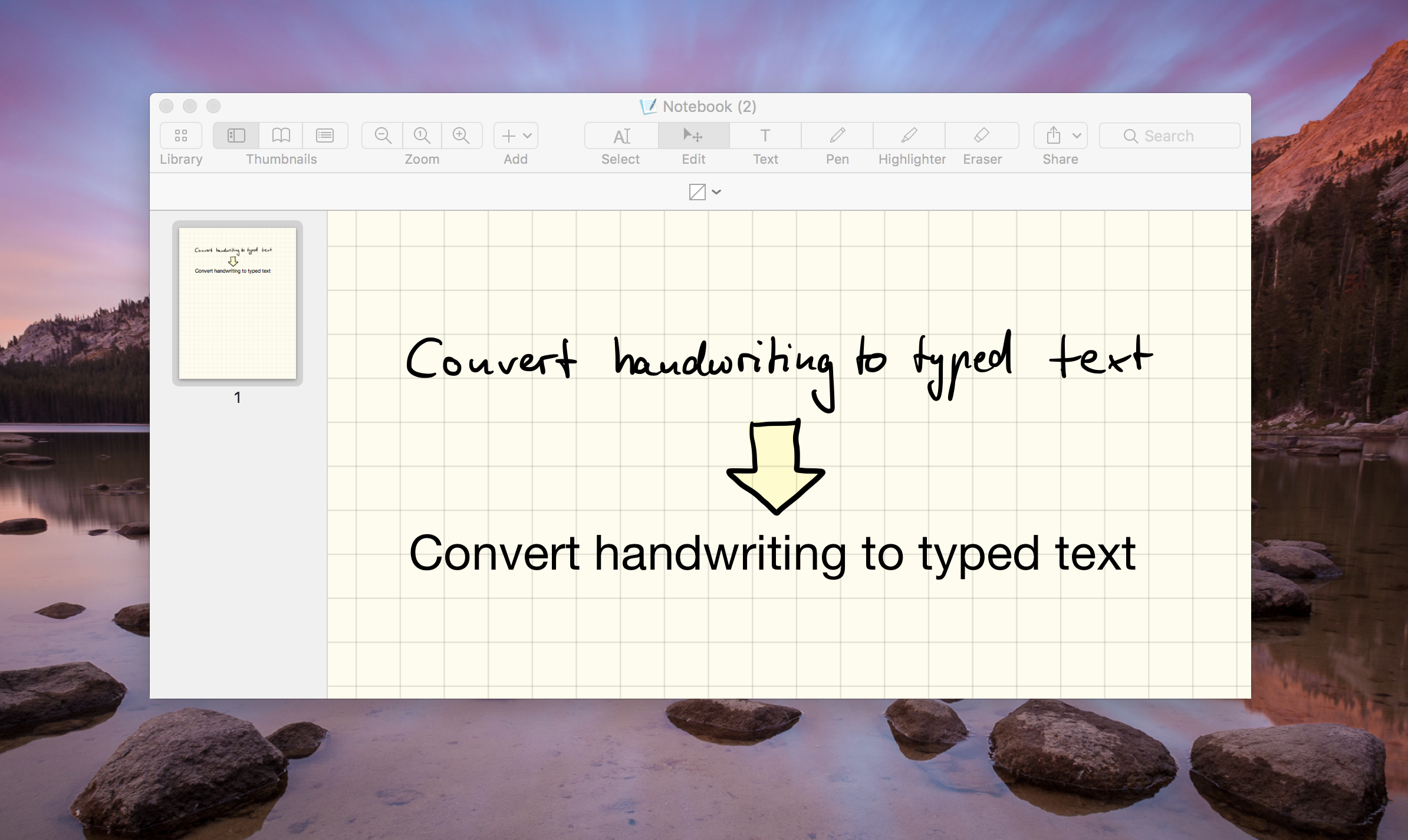 GoodNotes for Mac now supports handwriting-to-text-conversion