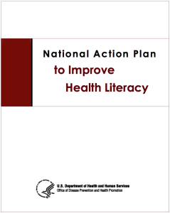 Cover of the National Action Plan to Improve Health Literacy