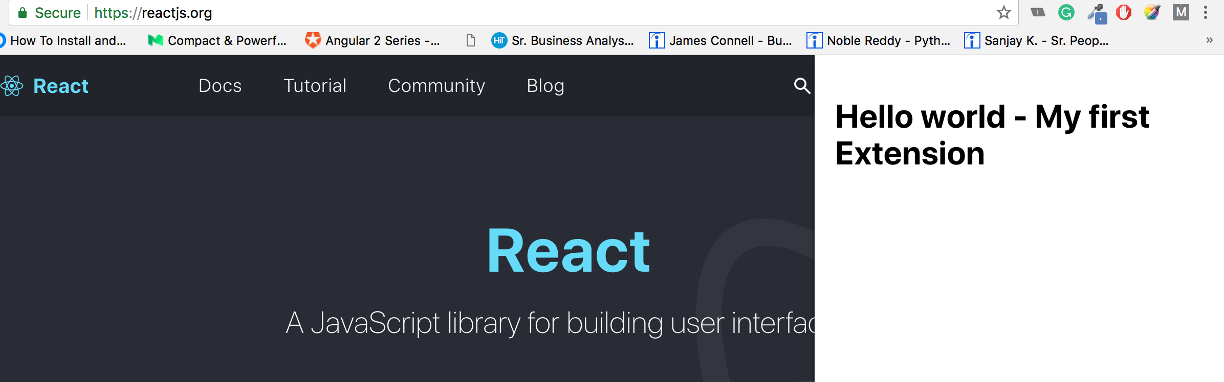 Create chrome extension with ReactJs using inject page strategy