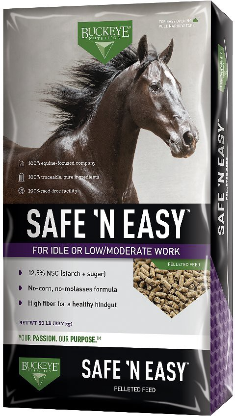 Buckeye Nutrition Safe N' Easy Pelleted Molasses-Free Horse Feed