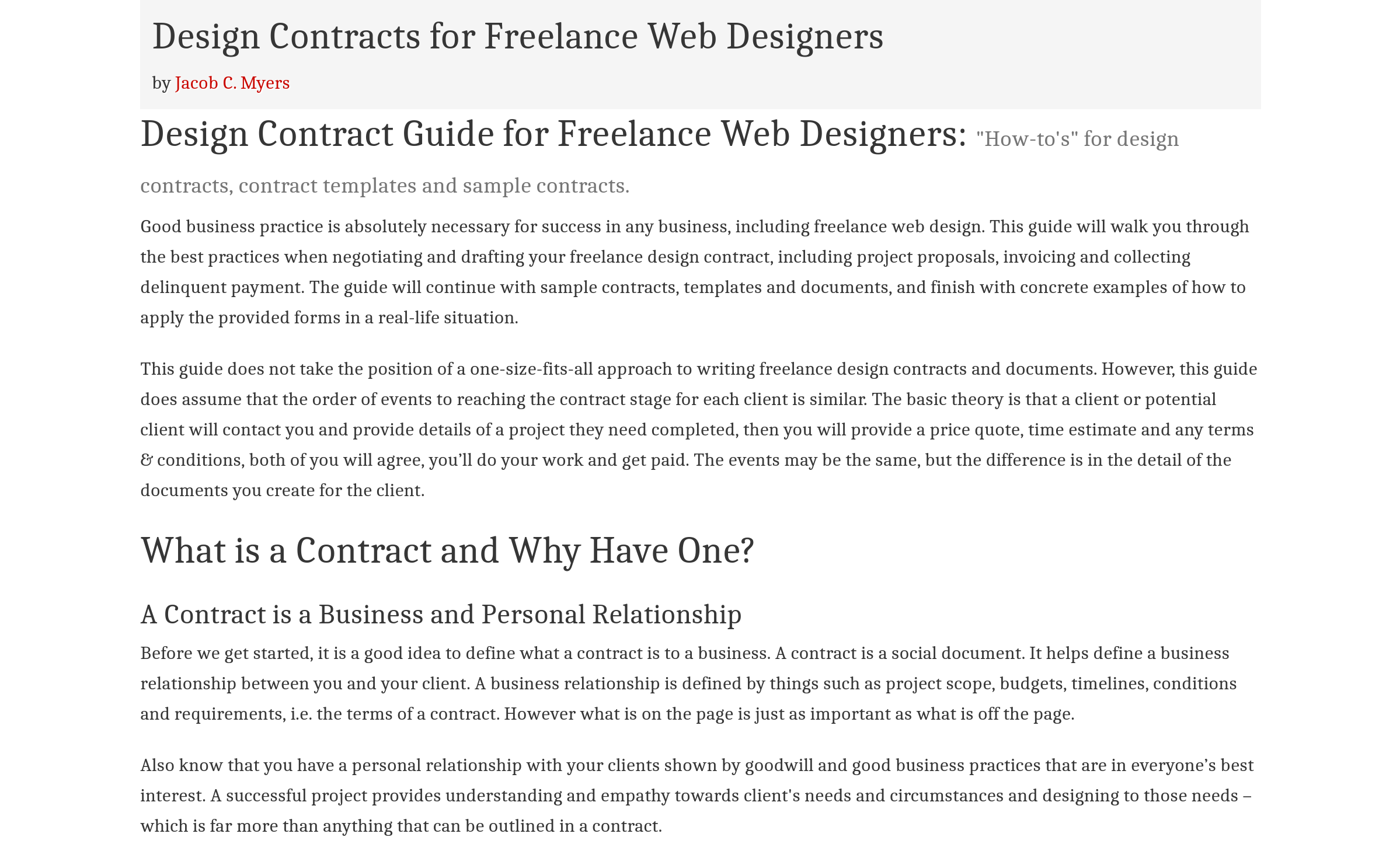 Top 7 Web Development Contract Templates Free By Derick Sozo Freelancer S Handbook Medium