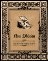 Poster design mimicing old world book cover with skull on front