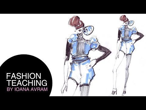 Sample Post Easy Fashion Design Drawing By Sasha Vonn Fashion Beauty Models Style Trends Medium