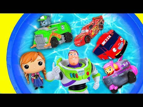 Bucket Of Toys Learn Characters Toys Story 4 Cars 3 Superheroes