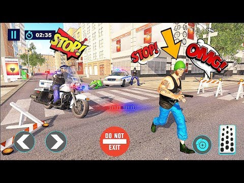 US Police Bike 2019 — Gangster Thief Chase Games Chapter 2