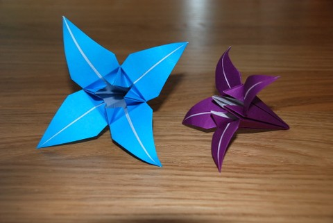 How to Fold Origami Four Lilies with Flower Buds | Papier origami ... | 321x480
