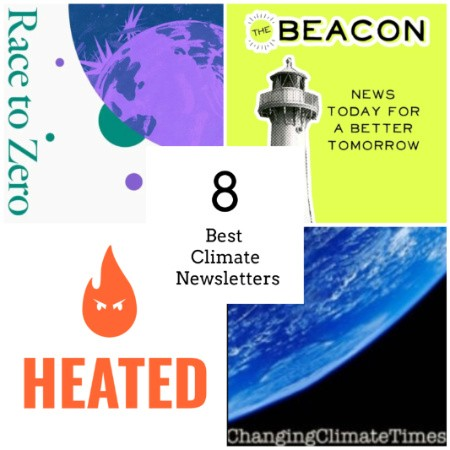 Best climate and sustainability newsletters (logos)