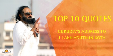 top quotes gurudev s address to lakh youth in kota