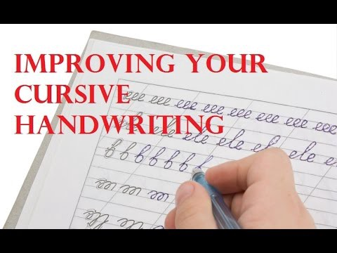 Making Cursive Writing a Very Easy Lesson for Beginners