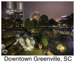Downtown Greenville, SC at night