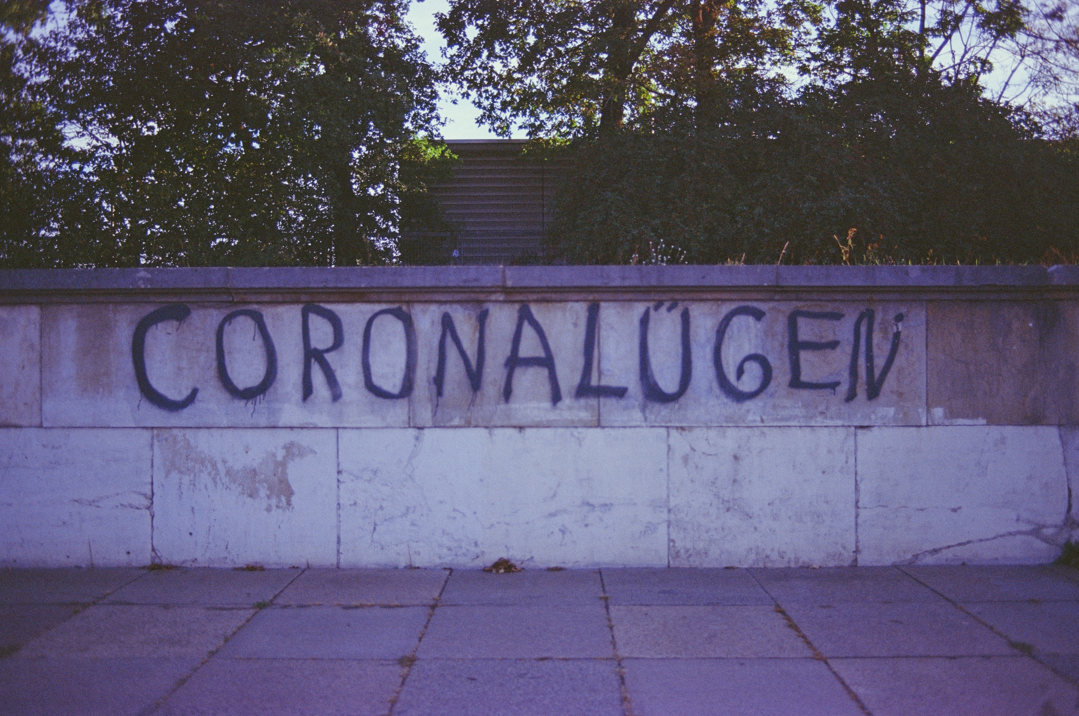 """Corona Lies"" on a Wall in Germany"