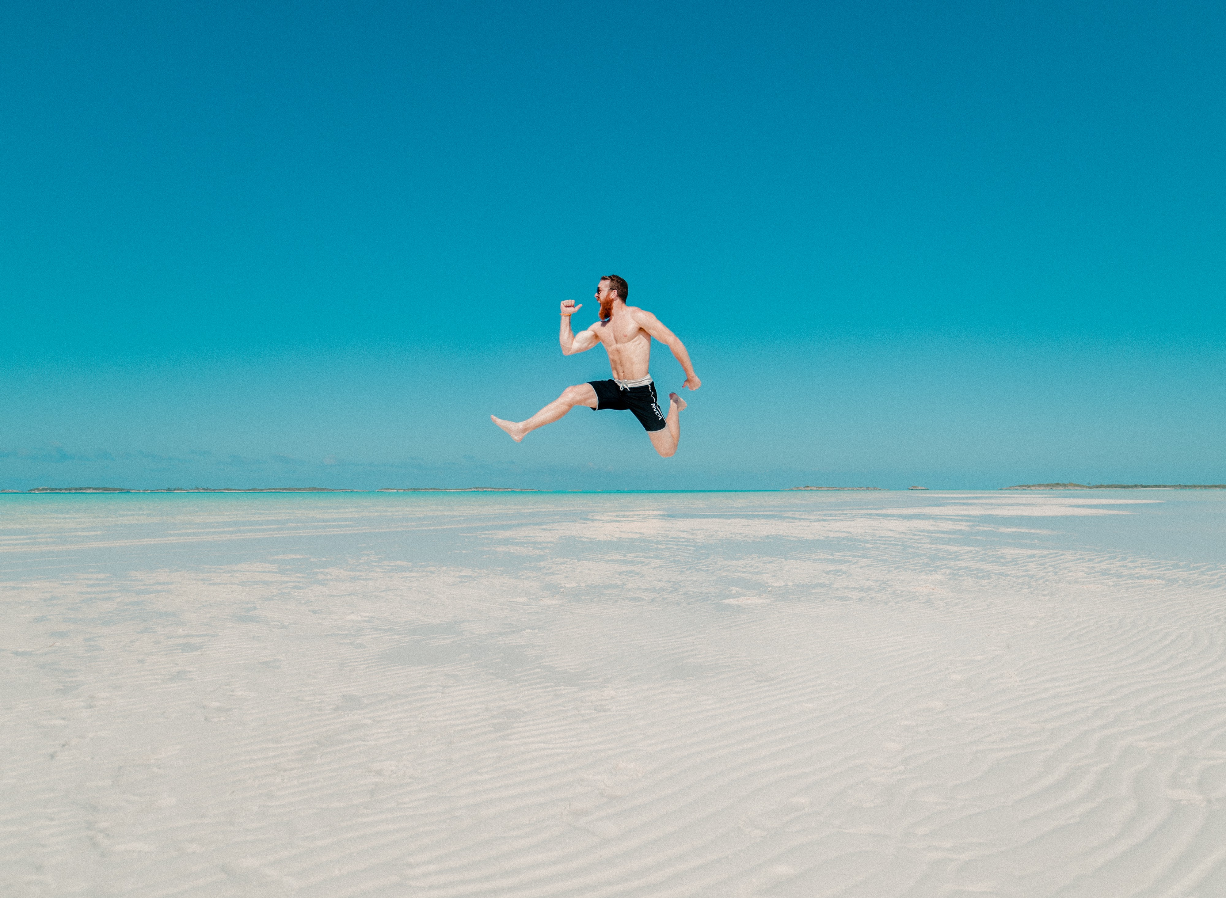 Man leaping for joy. For article by Darryl Brooks on Medium.