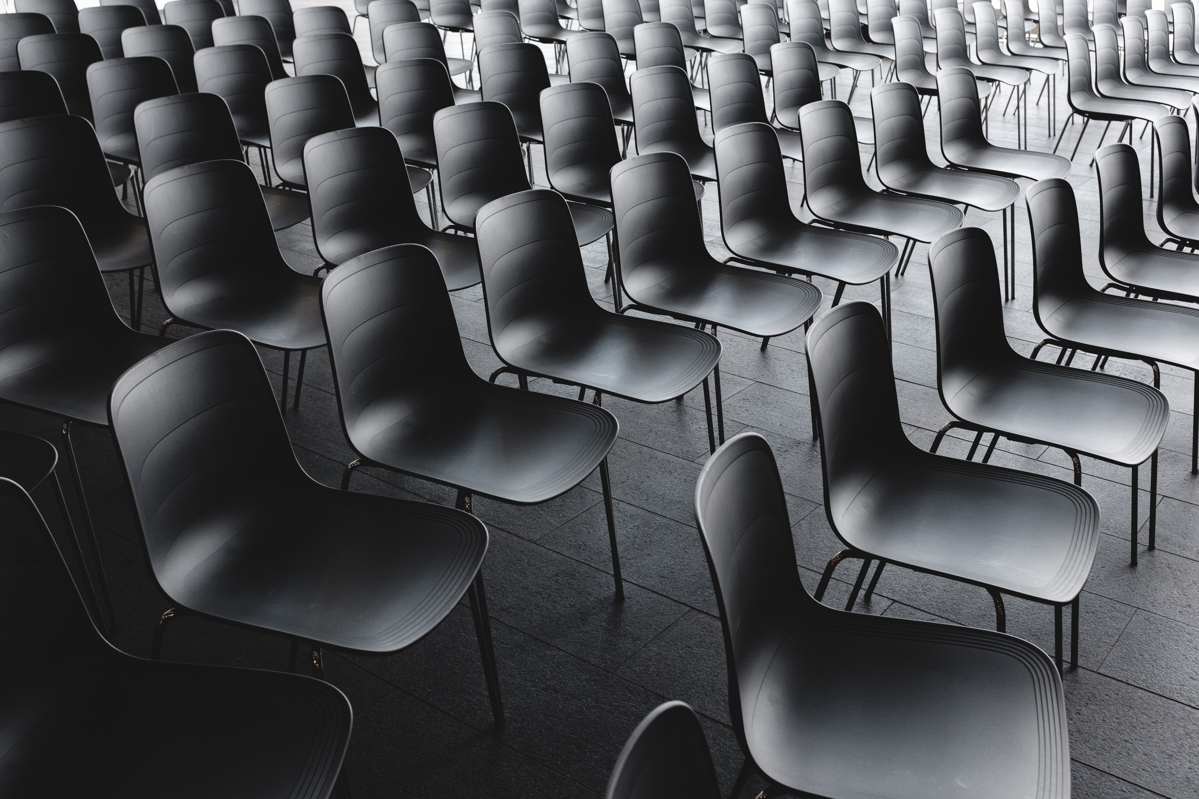 Empty conference chairs