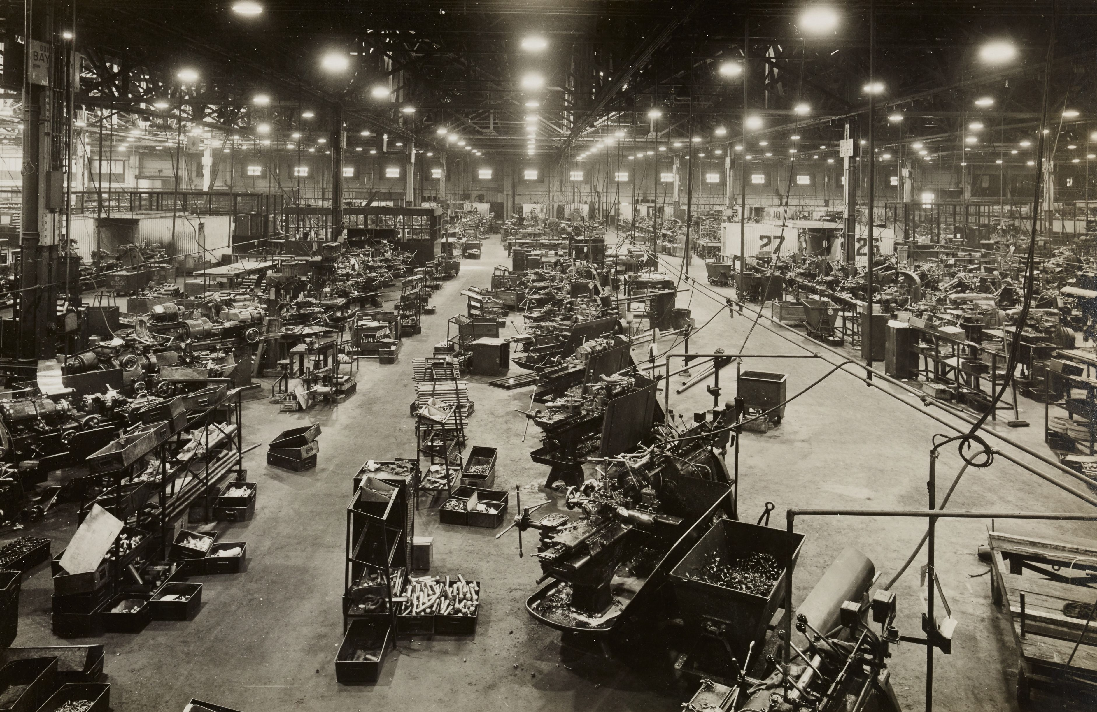 Old car production line