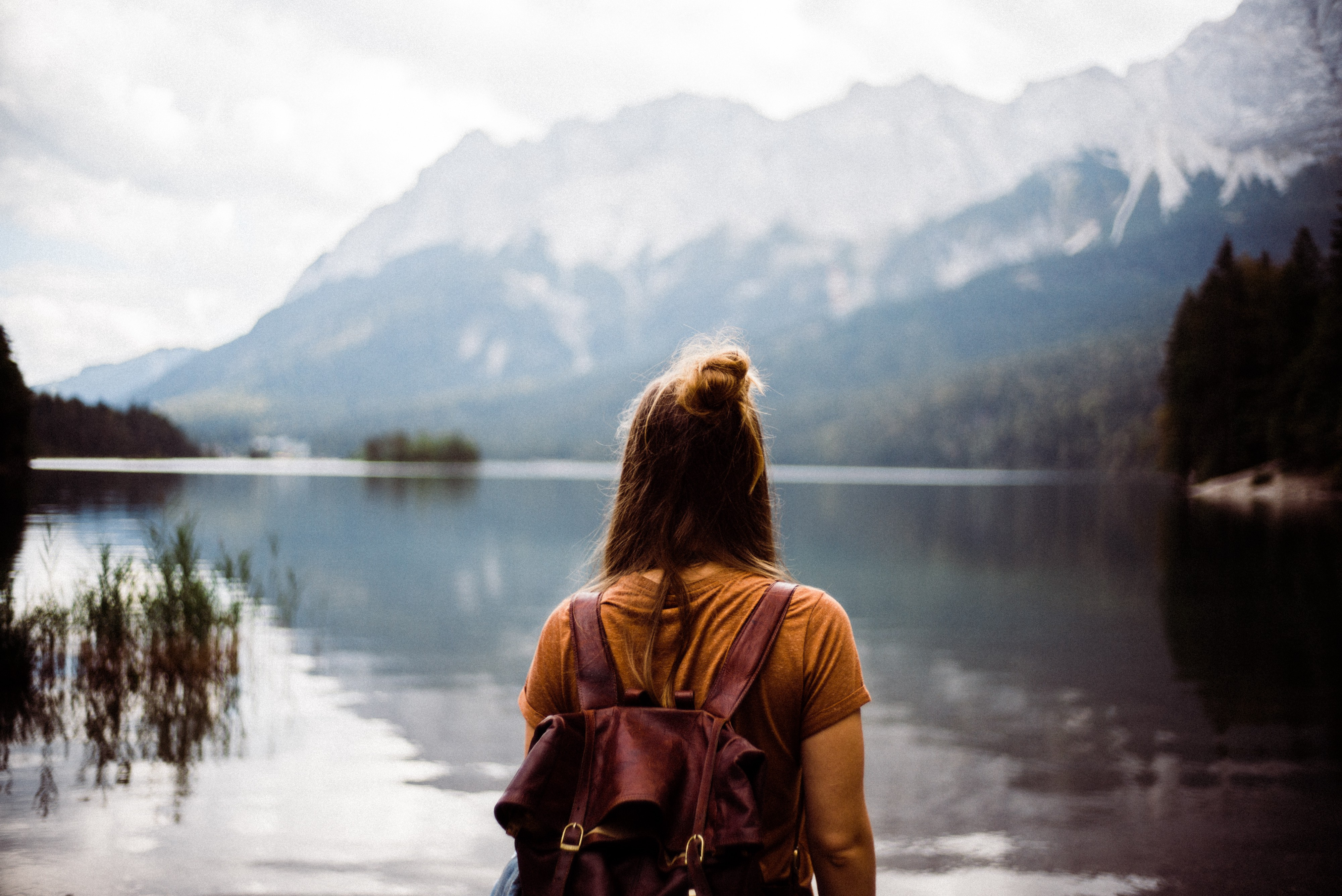 a lady by mountain journey